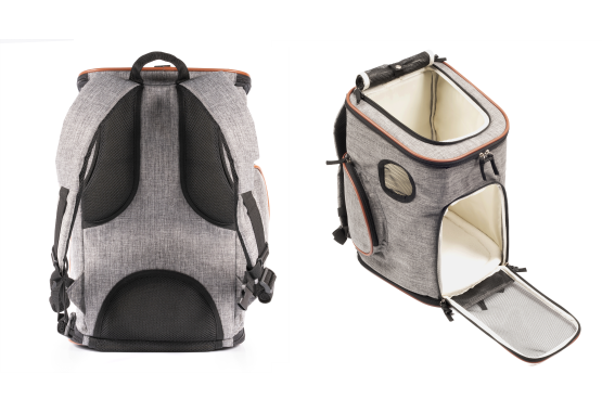 Pet carrier backpack with extra thick padding for comfort