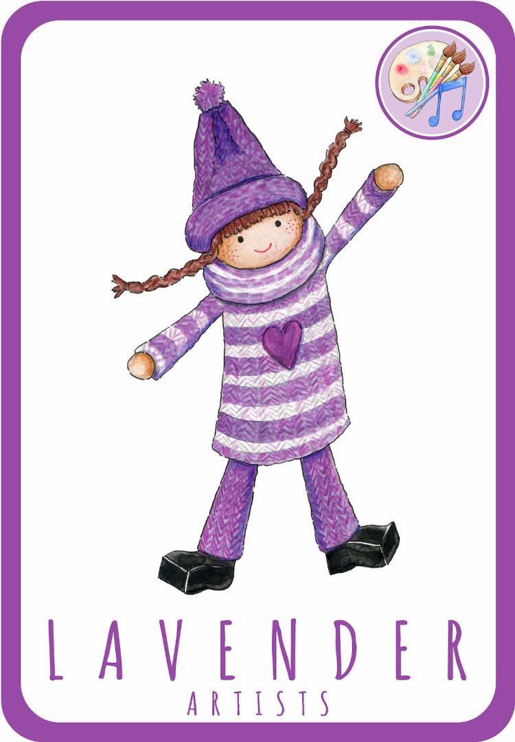 Lavender Card Front