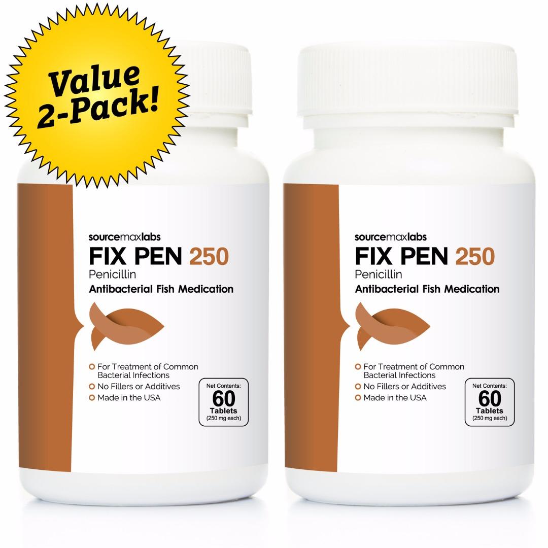 Fix Pen 250 (Penicillin 250mg), 60 count - 2 Pack
