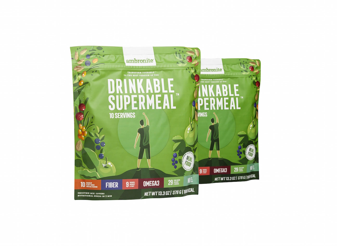 Gift Card For 2 Ambronite Drinkable Supermeal Big Bags