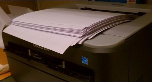 Printer with Paper