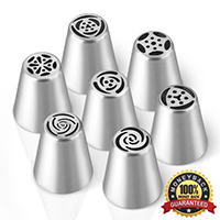 Stainless Steel Pastry Nozzles (7pcs)