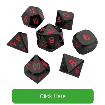 Shiny Black Nickel with Pink Numbers Metal Dice | Umbral Fae