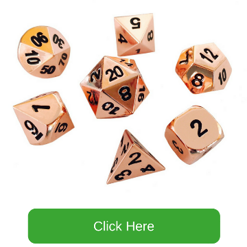 Copper Color with Black Numbers Metal Dice