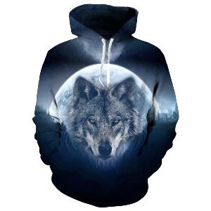 Faded Sky Wolf Hoodie