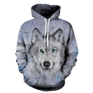 Blue Eyed Wolf Hoodie