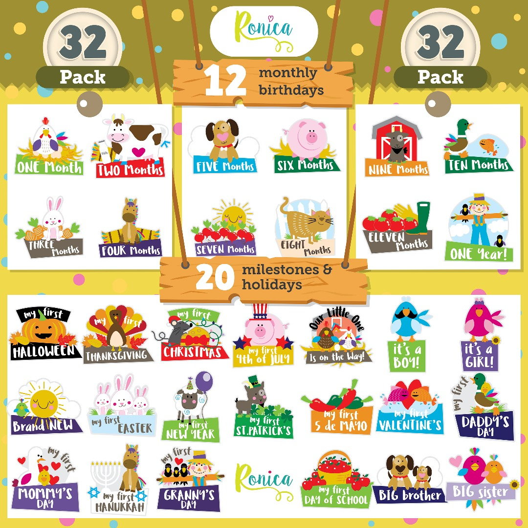 Ronica baby stickers - Farm