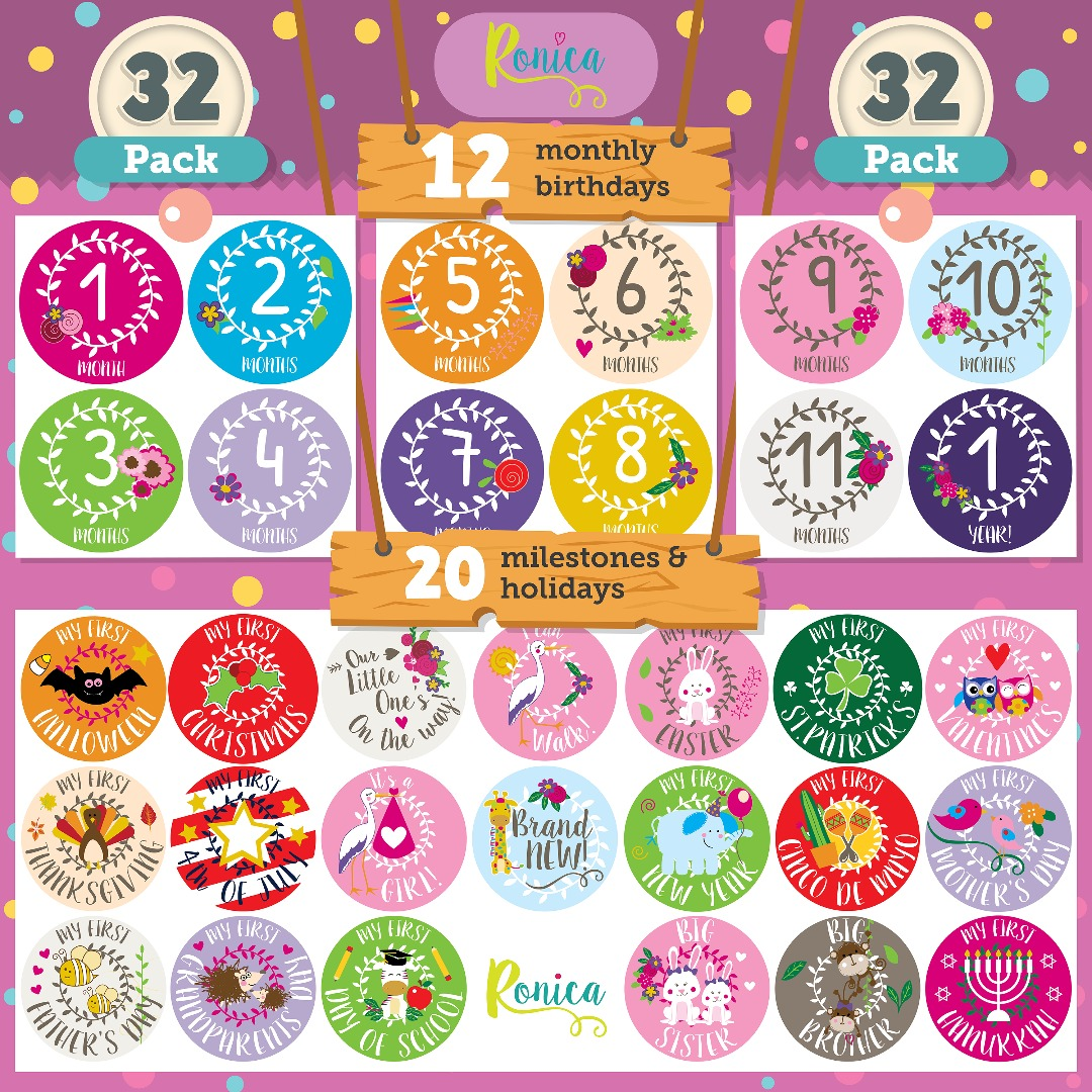 Ronica Baby Memory Book for Girls