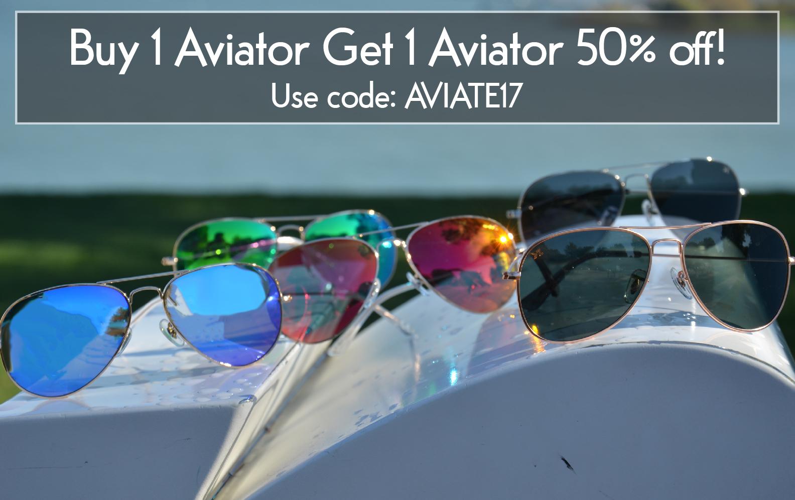 Aviator BOGO 50% Off