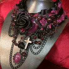 Cranberry, purple plum, raspberry stones in this gorgeous jewellery piece now at Gallery Serpentine