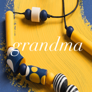 Best Selling Gifts for Grandma | Colourful Necklace on Blue and Yellow Background