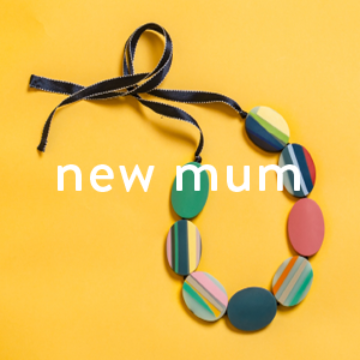 Best Selling Gifts for New Mums | Colourful Resin Necklace on Yellow Background