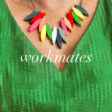 Best Selling Gifts for Workmates | Green V-Neck Dress with Colourful Necklace