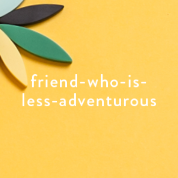 Best Selling Gifts for Less Adventurous Friends | Green Resin Necklace on Yellow Background