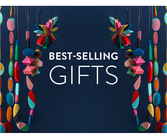 Best Selling Gifts | Colourful Necklace on Yellow Background