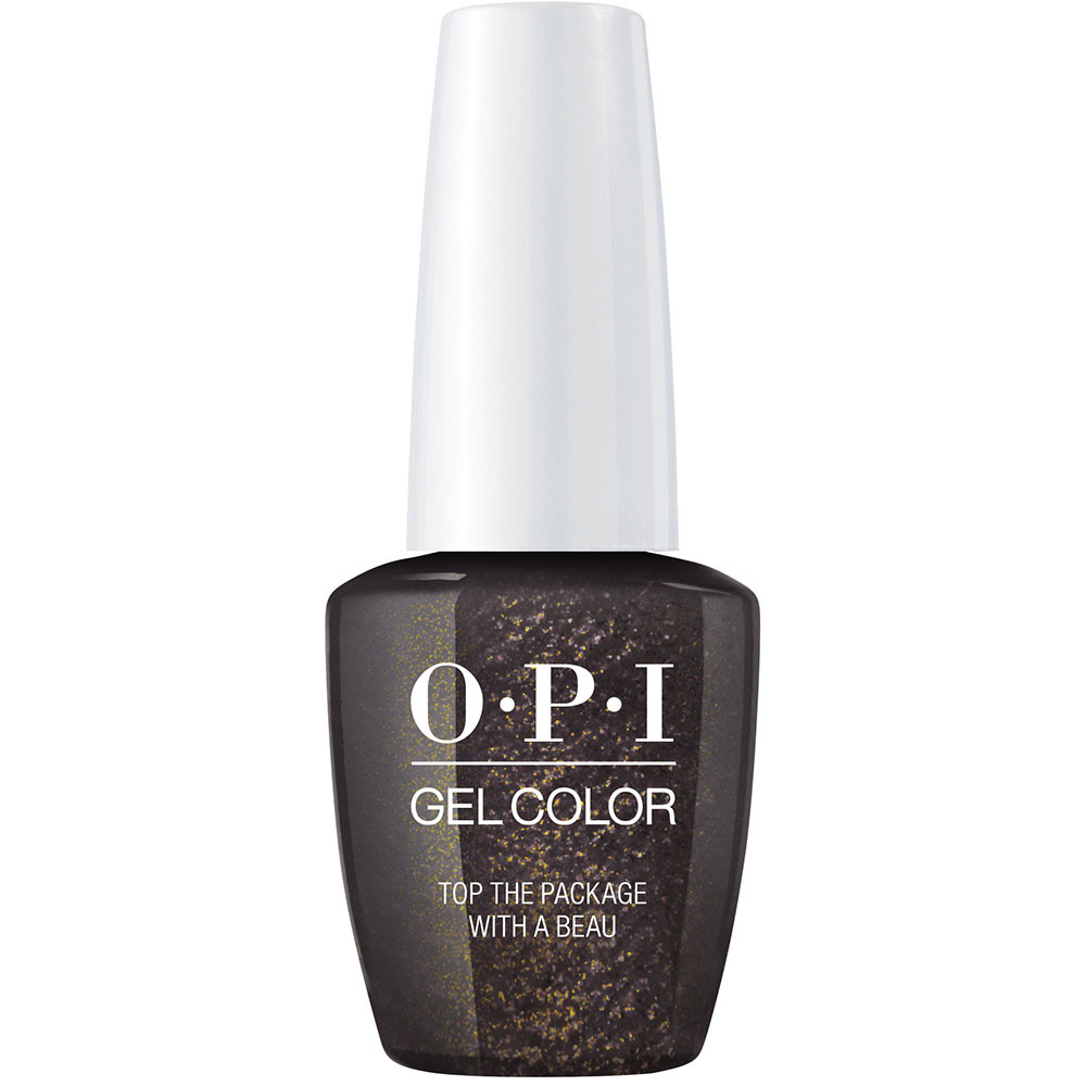 top the package with a bow xoxo opi