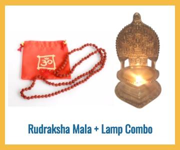 rudraksha mala deepam lamp