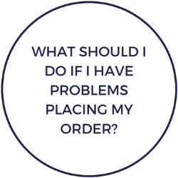 What should I do if I have problems placing my order?
