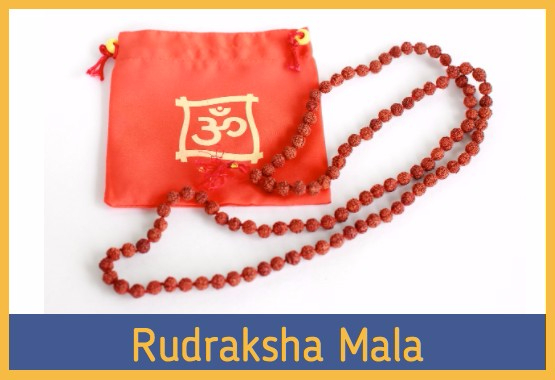 rudraksha mala with pouch
