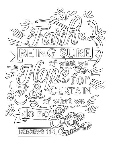 Hebrews 11 1 Coloring Page Spiritual Drawing 1 Of 10