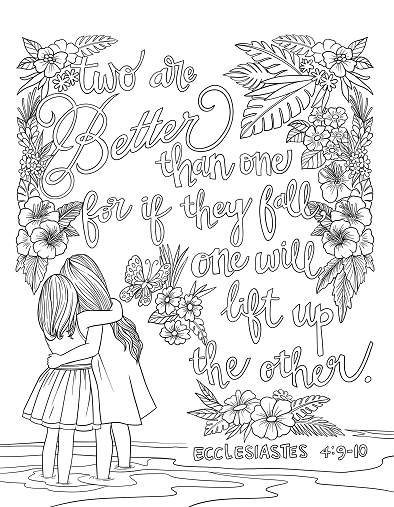 Ecclesiastes 49 10 Coloring Page Spiritual Drawing 2 of 10