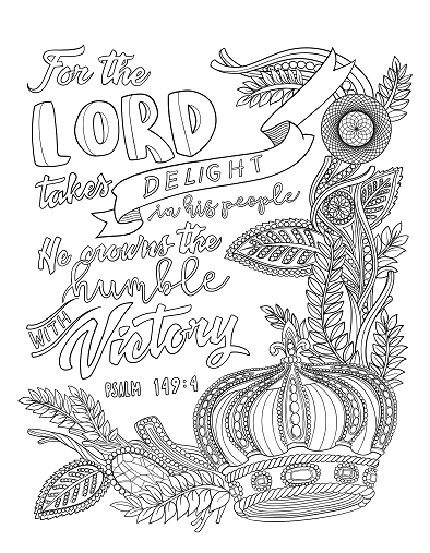Psalm 1494 Coloring Page Spiritual Drawing 4 of 10