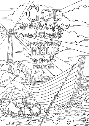 Psalm 46 1 Coloring Page Spiritual Drawing 6 Of 10