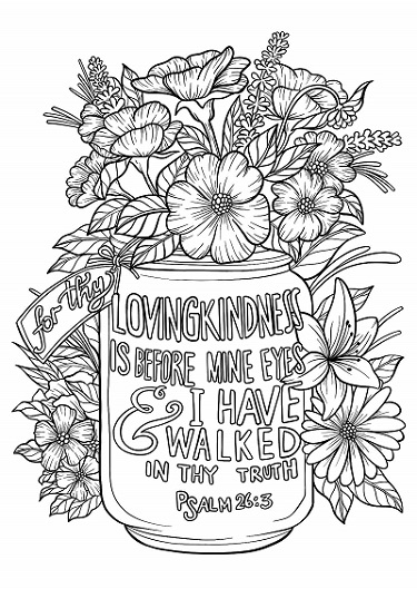 Psalm 26:3 Coloring Page