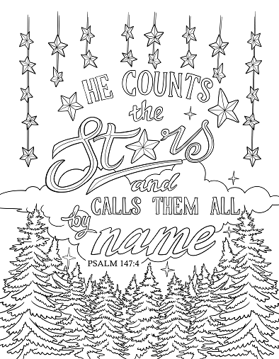 Scripture Coloring Page