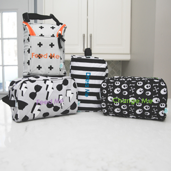 Detroit Rock City Easy Baby Travelers Starter Set of 4 for Diapers, Clothes, Food & Bottles