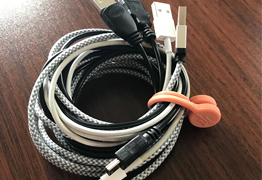 TwistieMag Magnetic Cord Management Organizer for Travel