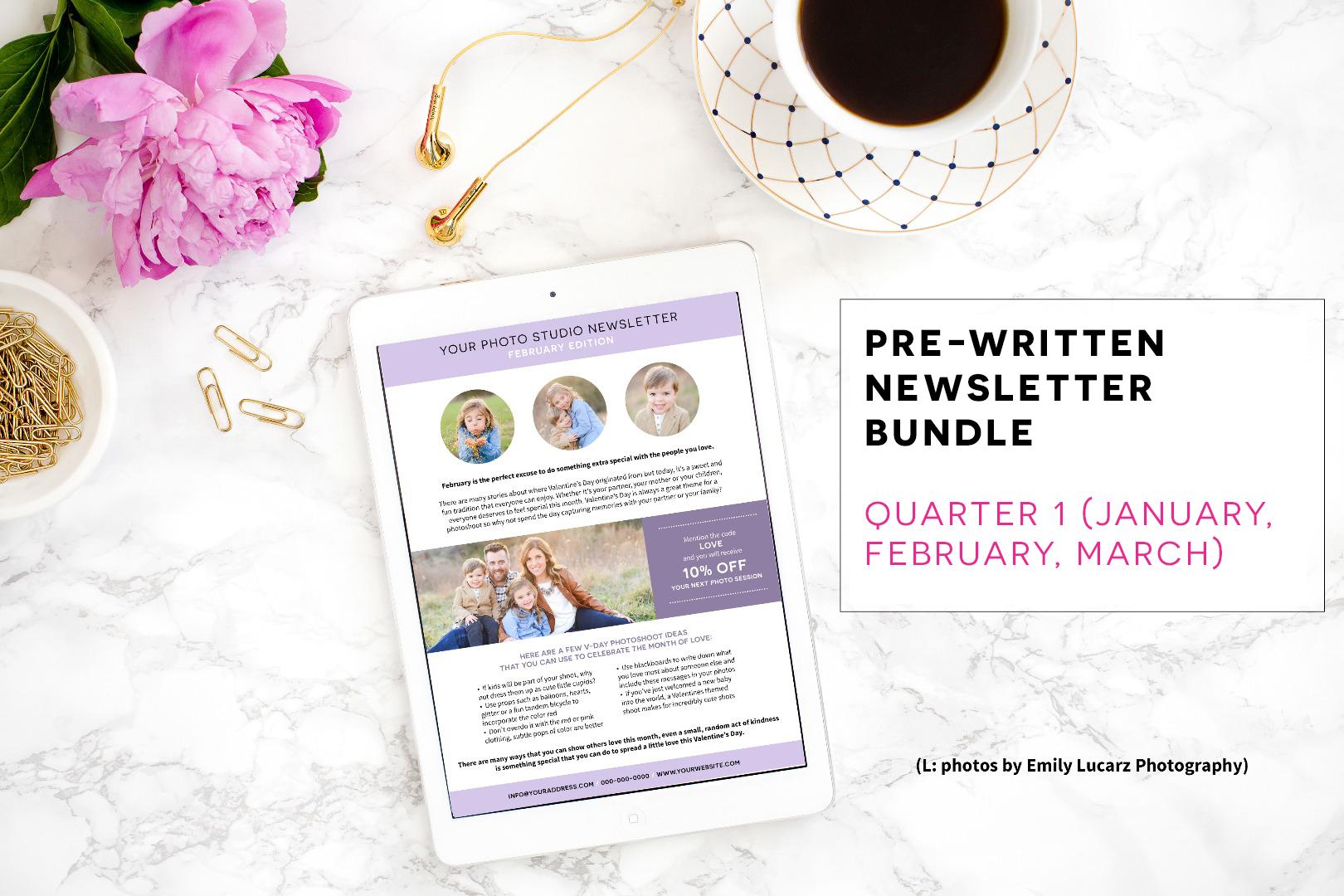 Pre-Written Newsletter Template Bundle