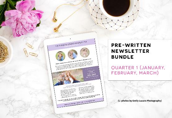 Pre-written newsletter template bundle quarter 1