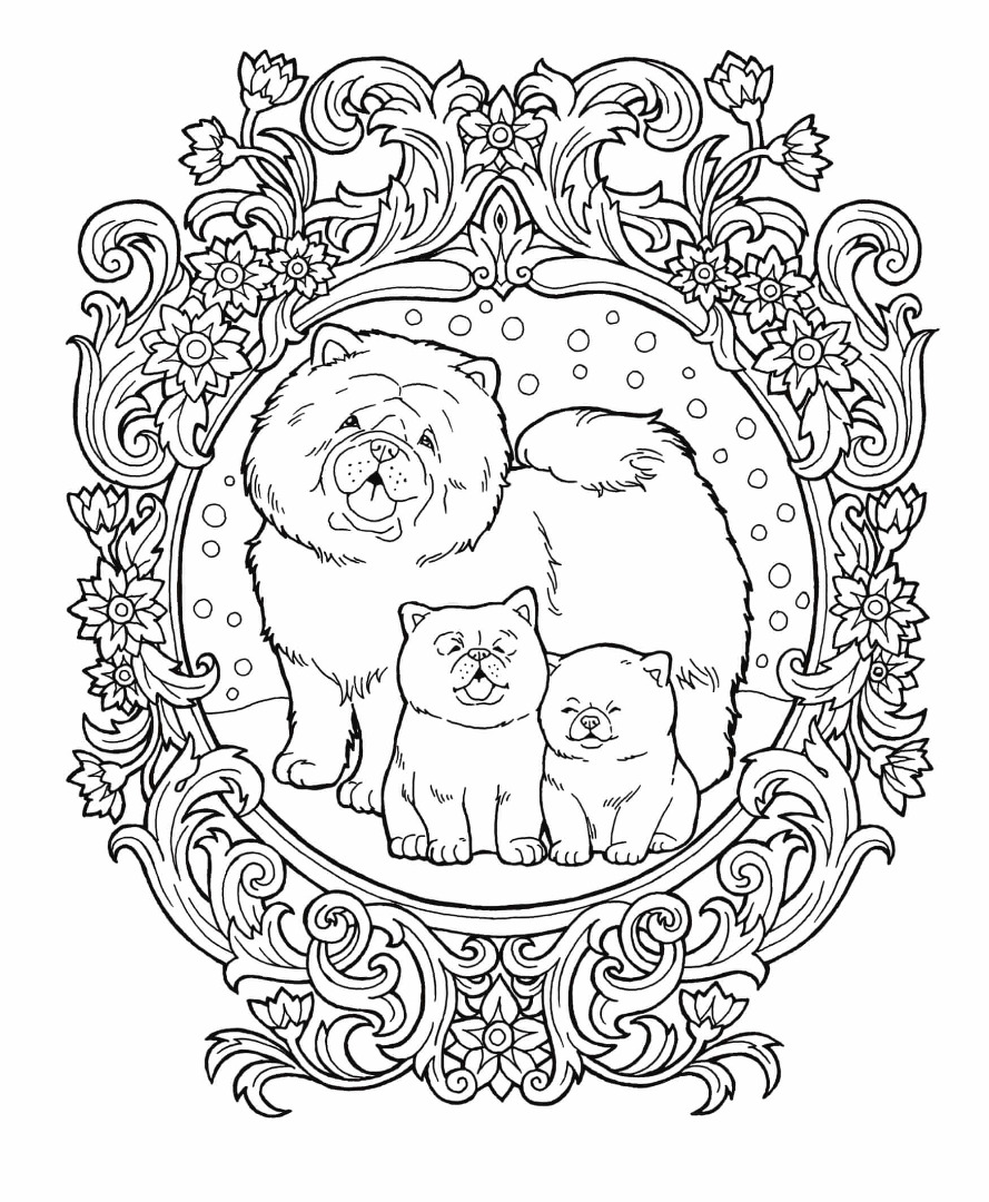 Free Snow Dogs Coloring Page