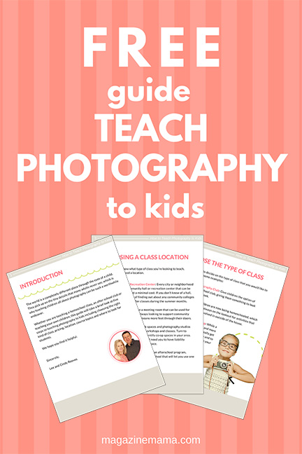FREE Guide Teach Photography to Kids