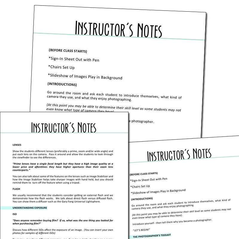 Curriculum to teach a basic digital photography class