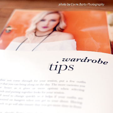 Wardrobe Tips Text for Senior Welcome Guide