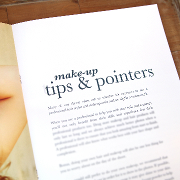Makeup Tips and Pointers for Senior Welcome Guide Template