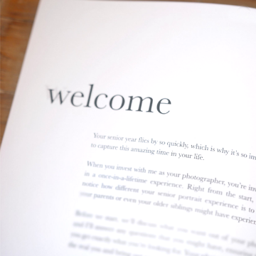 Welcome Spread for Senior Welcome Guide Template