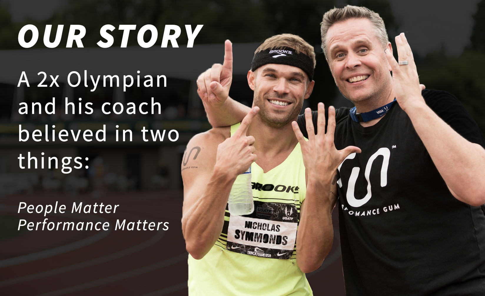 Run Gum Founders Nick Symmonds and Sam Lapray