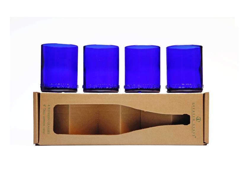 4 Pack of Glasses: Cobalt Blues!