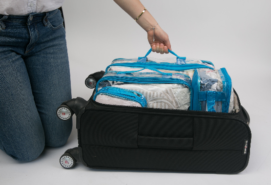 clear packing cube suitcase organizer