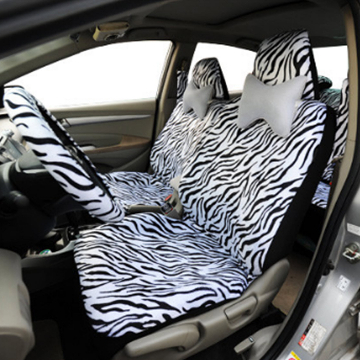 SIDE VIEW - ZEBRA CAR SEAT COVER
