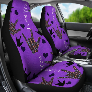SIDE VIEW - I LOVE YOU CAR SEAT COVERS