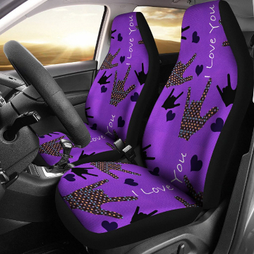 Front Seats - I Love You Car Seat Covers