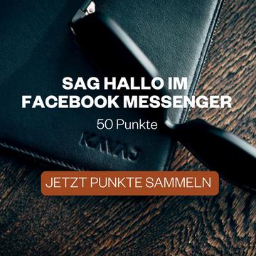 Sag Hallo im Facebook Messenger und sammle 50 Punkte