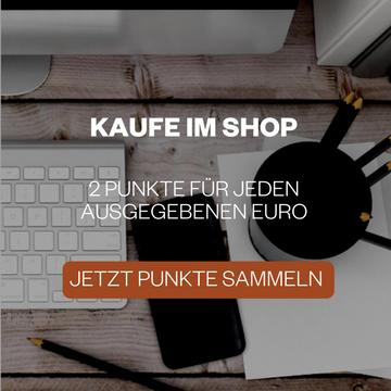 Kaufe im KAVAJ Shop und sammle 2 Punkte für jeden ausgegeben €.