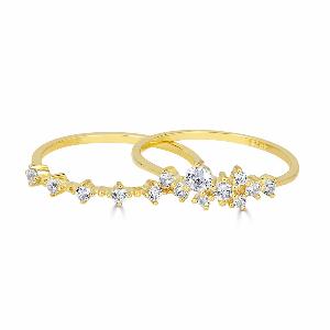 Sasha Sparkle + Nicolette Ring 14K Gold Vermeil