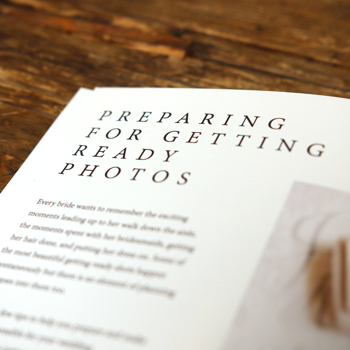 Weddings Welcome Guide - Preparing for Your Getting Ready Shots