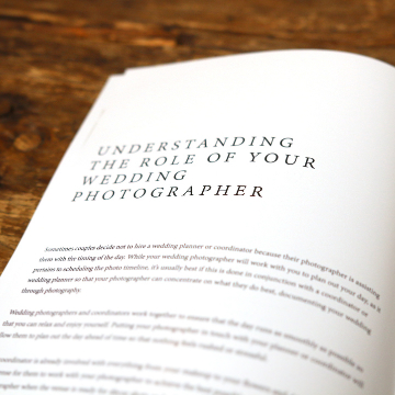 Weddings Welcome Guide Template - Understanding the Role of Your Wedding Photographer